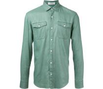 - Hemd mit langen Ärmeln - men - Baumwolle - L