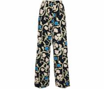floral-print wide-leg trousers