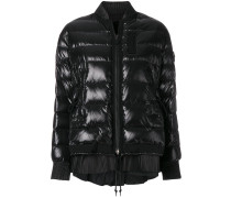 padded bomber jacket with frill