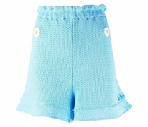 high-waisted knitted shorts