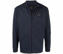 logo-print zip-up sweatshirt