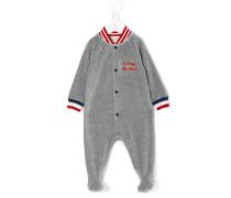 Pyjama mit Kontraststreifen