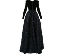 Preston long sleeved flared gown