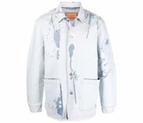 Peel-Off-Effect denim shirt jacket