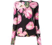 Pullover mit Tulpen-Print