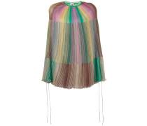 Poncho mit Regenbogen-Print - women