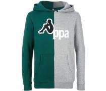 bicolour logo hoodie