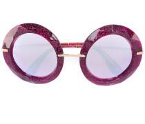 Glitzernde Oversized-Sonnenbrille