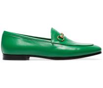 Green Jordaan leather loafers