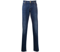 Gerade Jeans mit hohem Bund