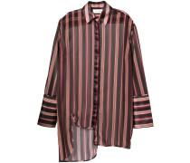 Asymmetrisches Hemd mit Streifenmuster