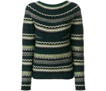 patterned wool jumper