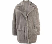 Einreihiger Shearling-Mantel