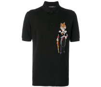 Poloshirt mit Fuchs-Patch