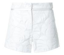 Shorts mit Blattmuster