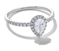 18kt 'Mye' Weißgoldring mit Diamanten