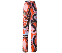 graphic print straight trousers
