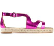 Metallisch glänzende Sandalen