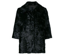 a-line button up jacket
