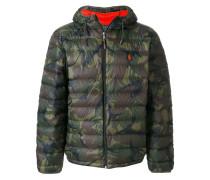 Gefütterte Jacke mit CamouflagePrint