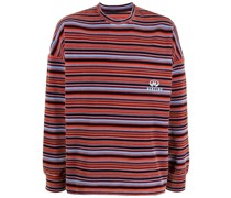 Gestreiftes Velours-Sweatshirt