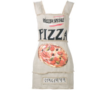 Gerades Kleid mit Pizza-Print - women