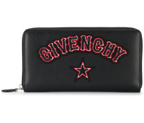 gothic logo patch wallet