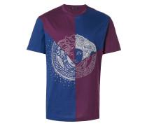 panelled embellished Medusa Tshirt
