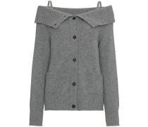Cashmere off shoulder cardigan