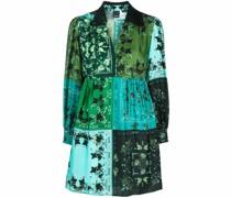 Hemdkleid mit Patchwork-Muster