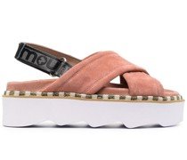 crossover-strap sandals