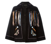 butterfly embroidery cape