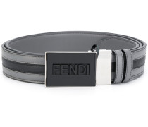 two-tone logo belt