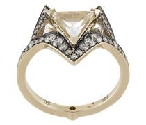 18kt 'Hava' Weißgoldring mit Diamanten