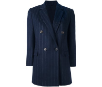 pinstripe double breasted coat