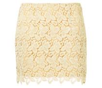 crochet embroidered mini skirt