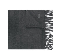 knitted fringed scarf