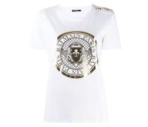 T-Shirt mit Medaillon-Print
