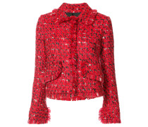 Tweed-Jacke mit Fransen