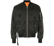 Bomberjacke in Distressed-Optik