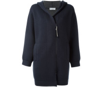 zipped hooded cardi coat