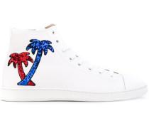 High-Top-Sneakers mit Palmenmotiv - men