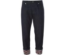 Cropped-Jeans mit umgeschlagenem Sa