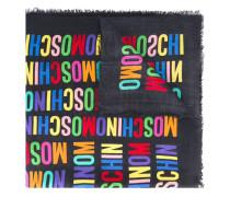 monogram print scarf