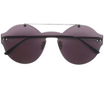Sonnenbrille mit Intrecciato-Muster