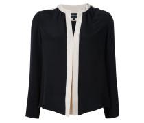 Bluse mit plissierter Knopfleiste - women