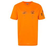 T-Shirt mit Augenstickerei