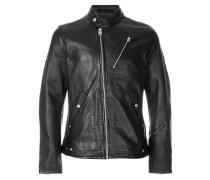 asymmetric zipped jacket