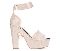 Sandalen mit Glitzereffekt - women