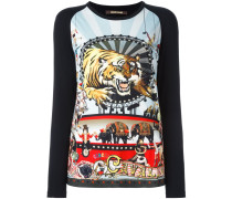 tiger print longsleeved top